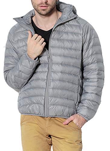Preisvergleich Produktbild LaiYuTing Männer Mäntel Übergrößen Herbst Winter Winddicht Lässig Patchwork Hoodie Jacke Daunenjacke
