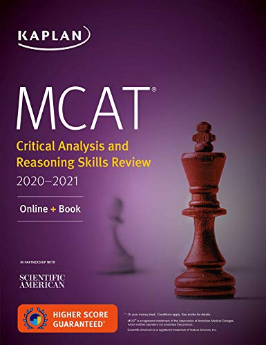 MCAT Critical Analysis and Reasoning Skills Review 2020-2021: Online + Book...
