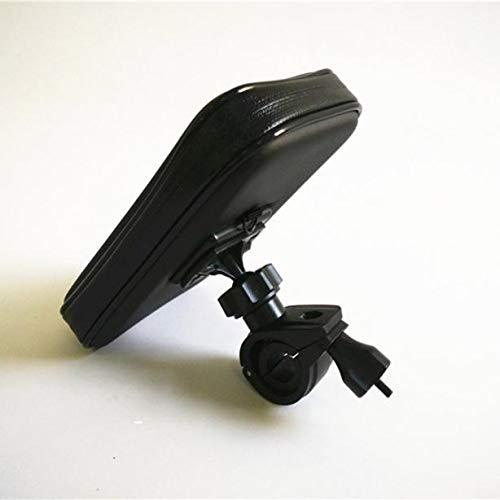 QHJ - Funda impermeable para manillar de bicicleta y bicicleta (compatible con el teléfono inteligente), negro, as show