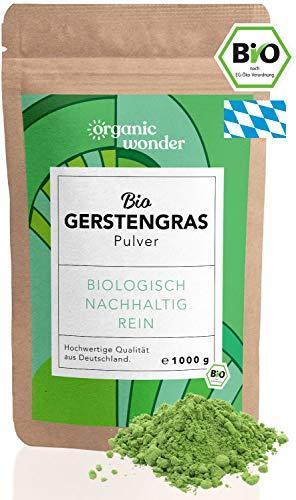 Bio Gerstengras Pulver (1.000 Gramm) Premium Bio-Qualität direkt aus Bayern I vegan und in Rohkostqualität I DE-ÖKO-001 zertifiziert