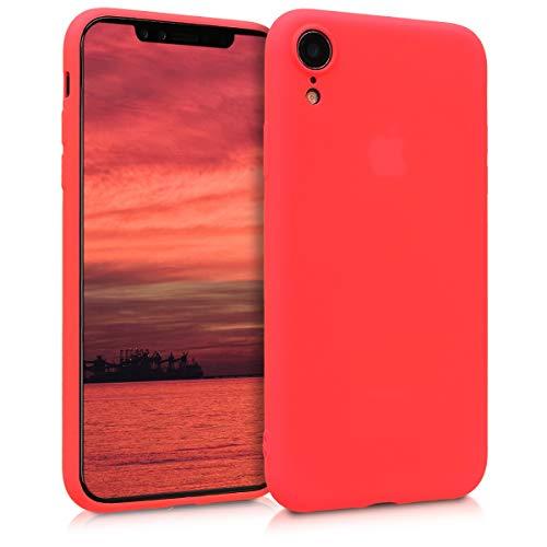 kwmobile Cover Compatibile con Apple iPhone XR - Cover Custodia in Silicone TPU - Backcover Protezione Posteriore- Rosso Fluo