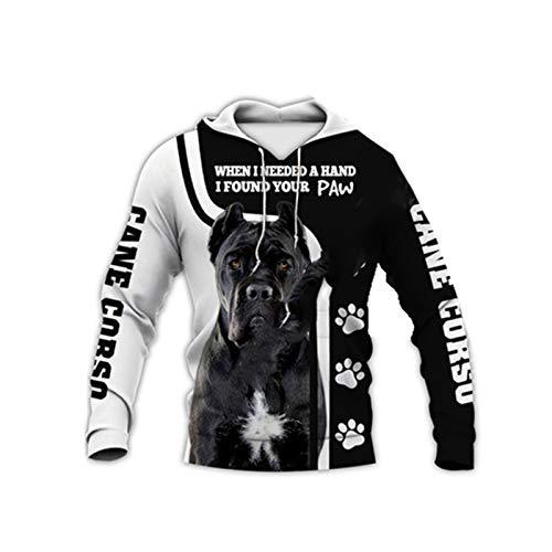 Cane Corso 3D Full Printed Zipper Hoodie Langarm Sweatshirts Jacke Pullover Trainingsanzug Gr. XXL, Hoodies