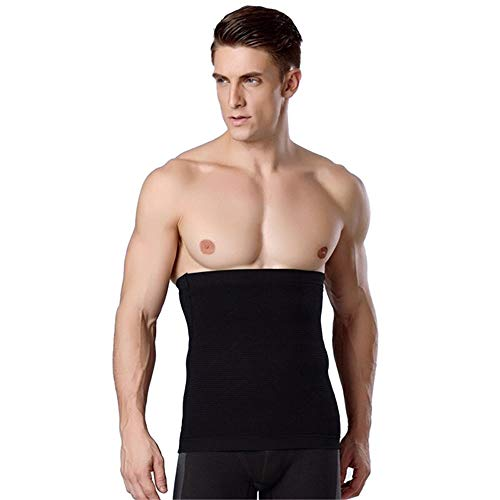 Rugsteungordel 1pcs Men's Fitness Afslanken Belt Mannen Tummy taillebuik Fat Man Slim Body Shapewear Gordel Belt Band Corset Taille Ondersteuning Train brace Lumbale (Color : Black, Size : M)