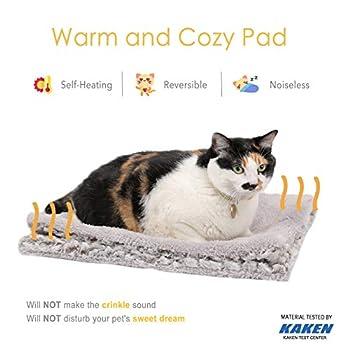 Mora Pets Coussin Chauffant Chat - Tapis Chauffant Chat Chien, Tapis Chat Autochauffant Tapis Thermique pour Chiens 70 * 47 cm
