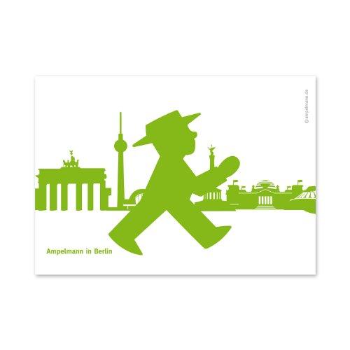Semáforo Postal–Post Muñeco pk28Geher Antes Silhouette Berlin 4colores