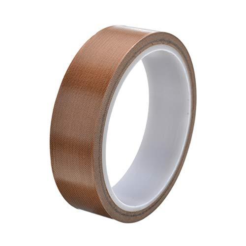 Teflonband, Hochtemperaturband, PTFE Glasgewebeband/Glasklebeband, Selbstklebend - 25mm x 10m