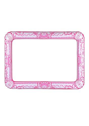 Islander Fashions Opblaasbare Roze Fotolijst 60 cm X 80 cm Blow Up Kip Party Hert Party Accessoire Een Size