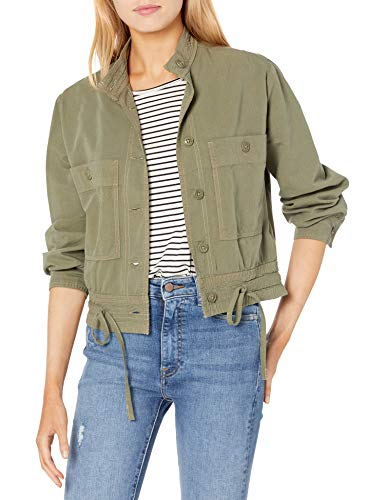 Simple Joys by Carter's Girls' Twill Button up Jacket, Olive Green, 12 Months