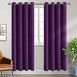BGment Ösenvorhang Violett Thermovorhang blickdichte Gardine,228 x 117 cm (H x B),2er-Set,Verdunkelungsvorhänge Blickdicht Vorhang mit Ösen für Wohnzimmer