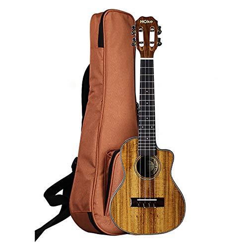 JW-YKLL Madera de Acacia Ukulele Exquisito Cabeza hacia atrás Diseño Mejorar la Calidad de Sonido cómodo Cuatro Cuerdas Guitarra pequeña,26inch