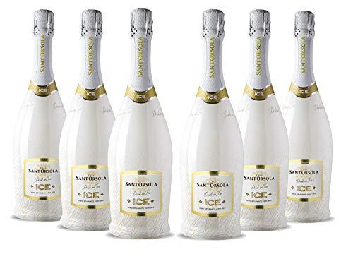 Sant'Orsola ICE Demi-Sec Schaumwein 6 Flaschen Champagner (6 x 0.75 l)