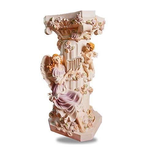 Columna romana Europea Piso Decoración Hada Ángel Femenino En Relieve Ornamento Fuente De...