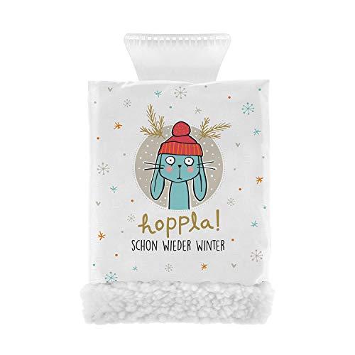 Sheepworld H:PPY Life 49856 Spruch Hoppla, Handschuh mit Fleece Eiskratzer, Mehrfarbig, Einheitsgröße
