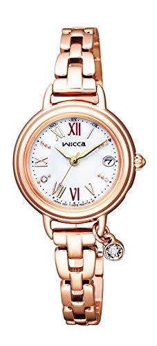 [シチズン] 腕時計 ウィッカ ブレスライン #ときめくダイヤ 替えバンド付 1ポイントダイヤ入 スワロフスキー・クリスタル使用 KL0-561-15 レディース ピンクゴールド