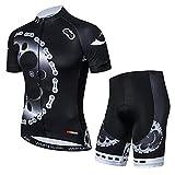 YouthRM Ropa de Ciclismo Equipo para Hombre Camiseta de Bicicleta Club Manga Corta con 3 Bolsillos Traseros Camisa de Ciclismo Reflectante de Verano Monos Transpirables de Secado Rápido,Black,Large