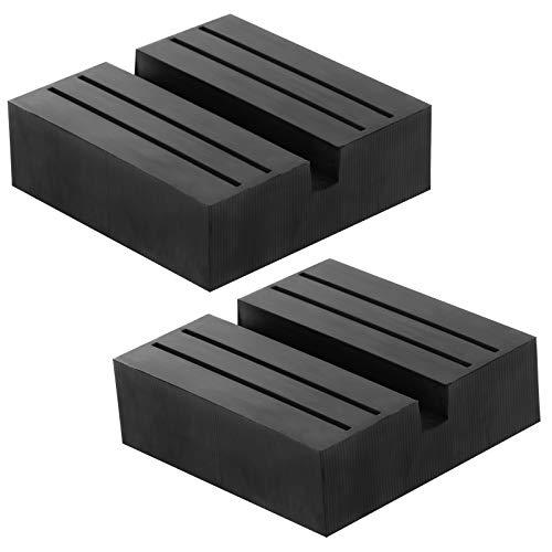 Colore 2 PCS quadrato universale Jack Pad Slotted,Car Jack Pad Gomma Universale Car Lift Pad Adapter, Slot Frame Rail Protector Pinch Weld Protector Protector 75x75x25mm, cuscinetto 3 tonnellate