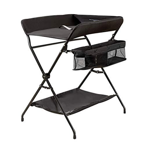Living Equipment Mesa para bebés Estación de mesa para pañales Unidad de almacenamiento para bebés Estación Cómoda Adecuado para 0 36 meses Toler Baby para cambiarse de ropa (Color: Negro Talla: B)