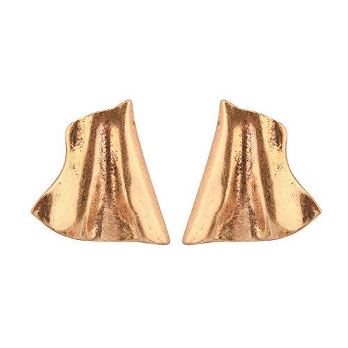 Aeici Oro Pendientes de Moda Mujer Diseño Unico Irregular 40X40Mm