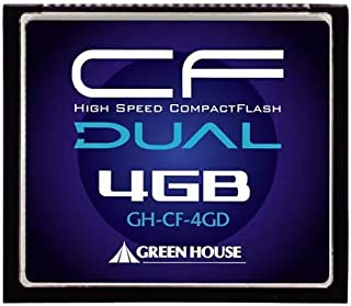 グリーンハウス 233倍速(37MB/s)ハイスピードコンパクトフラッシュ 4GB GH-CF4GD