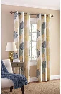 Mainstays Hanging Medallion Grommet Curtain Panels, Set of 2, 80