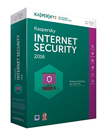 Kaspersky Internet Security 2016 - 5 PCs / 1 Jahr