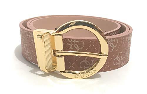 Guess Camy C21GU06 - Cinturón de mujer reversible de piel sintética rosa con logo 4G Rosa L