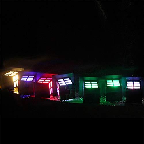 Sygjal 4pcs luz Solar Linterna Solar del césped de la lámpara del proyector iluminación subterráneo de jardín al Aire Libre Luces solares (Emitting Color : Multicolor, Size : Gratis)