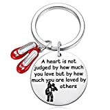 Wizard of Oz Tinman Inspired Gifts - A Heart is Judged by How Much You are Loved by Others Keychain Cosplay Dorothy Jewelry Ruby Slippers Tin Man Key Chain Gifts for Fans Collectors Friends
