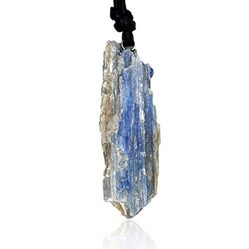 Barbari Jewelry Raw Blue Kyanite Crystal Necklace | Handmade Gift For Him And Her+ Free Gift Wrap+ Free Gift ! High Quality Natural Rock Healing Gemstone Pendant For Men And Women