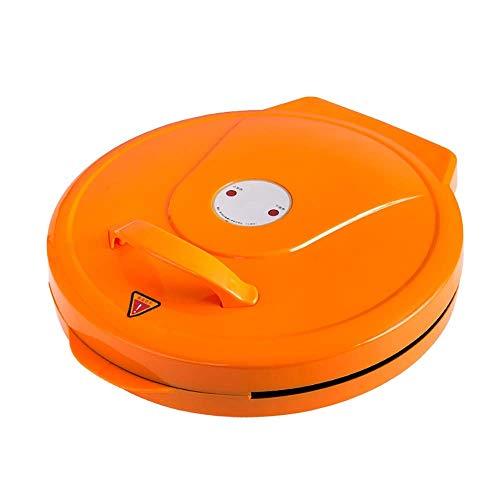 ZOUJUN Pizza Machine, eléctrico Hornear sartén Plancha Revestimiento Antiadherente fácil de Limpiar Antiadherente Bandeja de Horno automático de Potencia (Color: Naranja)