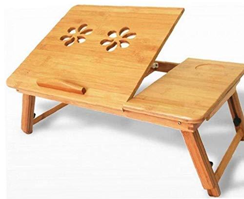 TOPofly Portátil Ajustable turística de bambú, Mesa de Ordenador portátil para la Bandeja de la Cama Plegable Desayuno Bandeja para Servir con cajón
