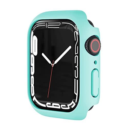 Prueba de arañazos Funda Protector Compatible con Apple Watch Series 4/5/6/SE 40mm 44mm,Ultradelgado Cubierta Protectora Completa PC Bumper Case,Mujer Hombre Caja Anti-Choque Caso,Verde Claro