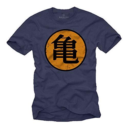 MAKAYA Camiseta Roshi's Gym - Kame - Dragon Azul M
