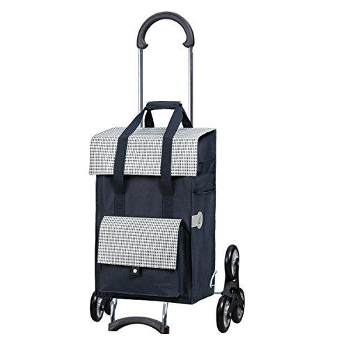 Andersen Carrello portaspesa Scala con borsa Milla blu, Capienza di 49L, telaio in acciaio e 6 ruote saliscale