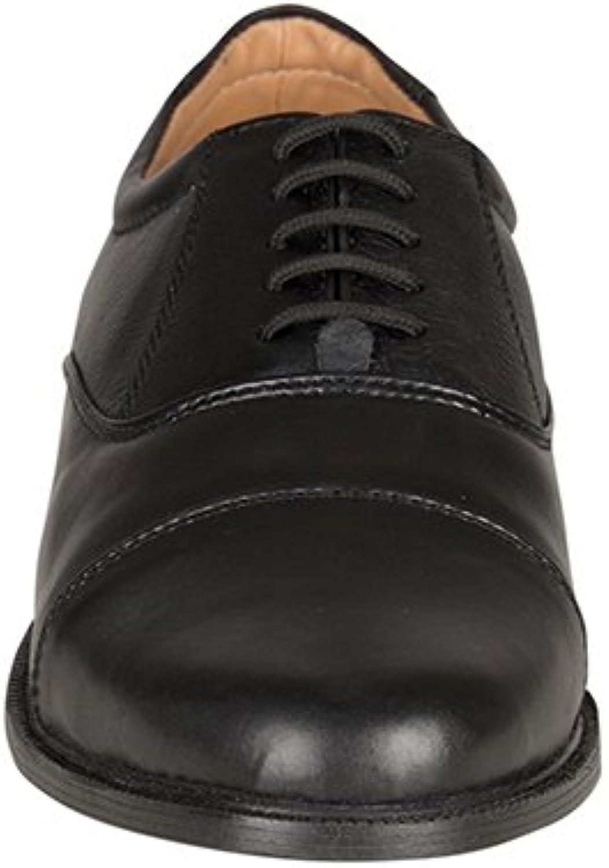 Alexandra STC-FW148BK-8 Men's Oxford shoes, Plain, Leather, Size  8, Black - EN safety certified