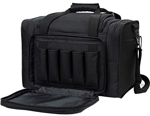 AUMTISC Pistol Range Bag Tactical Shooting Gun Range Bag with Penty of Room for Handguns Lightweight Durable(Black)