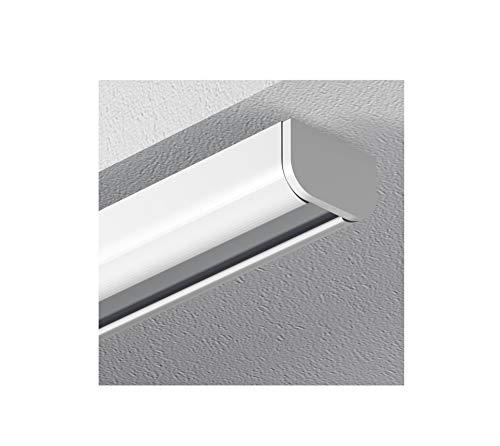 Garduna 120cm Schleuderschiene Gardinenschiene Vorhangschiene, Aluminium, Weiss, Glatte, glänzende Oberfläche, 1-läufig