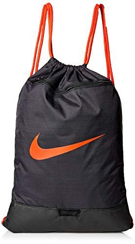 Nike Nike Brasilia Gym Sack - 9.0, Black/Black/Habanero Red, Misc