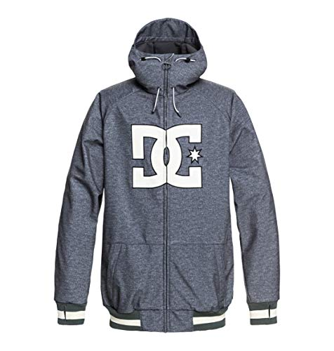 DC Shoes Original Spectrum Chaqueta, Hombre, Gris (Dark Shadow Heather), S