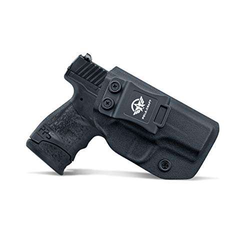 PoLe.Craft Walther PPS Holster IWB Kydex for Walther PPS M2 9mm / .40 Pistol Case - IWB Holster Walther PPS M2 9mm - Inside Waistband Carry Concealed Holster Walther PPS 9mm (Black, Right Hand)