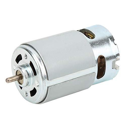 Motor DC, Motor Eléctrico, Micro Motor RS-550 DC 12-24V 22000 rpm, para Varios Taladros Manuales Inalámbricos, Kit de Motor DC, Juguete de Motor DIY