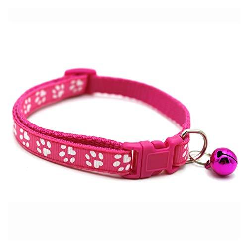 XIAOSHI Hebillas para Collares de Perros Charm Reflectante y Cuello de Campana Cuello Elástico Ajustable con Material de Terciopelo Suave Producto Mascota Pequeño Cuello de Perro Collar de perr
