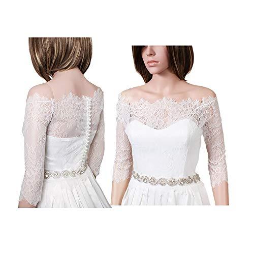 Bridal Lace Bolero Off-Shoulder  lace wedding jacket lace shrug bridal lace top