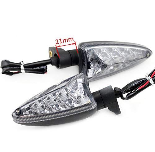 FJJ-DENG, Motocycle Accesorios Delantera/Trasera LED indicador de Vuelta de señal de luz de la lámpara en Forma for Triumph Speed Triple 1050 / R Street Triple 675 / R (Color : 21mm)
