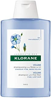 Klorane Volumizing Shampoo with Flax Fiber, Adds Lift & Texture to Fine Flat Hair, Paraben, Silicone, SLS Free