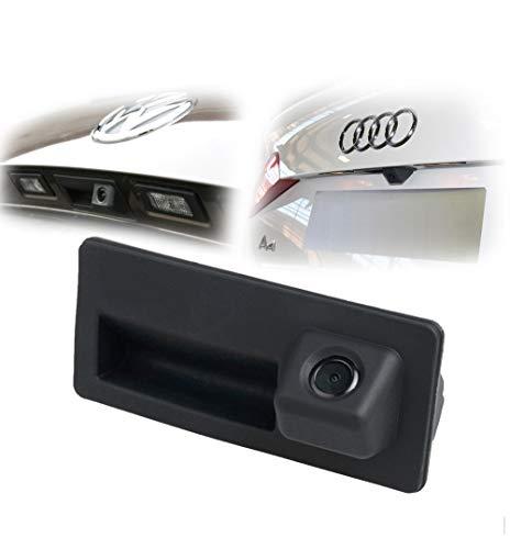 LIEBMAYA HD Cámara Trasera Marcha Atrás 480TVL 170°PAL Impermeable para Coche Auto DC12V para Audi A4 A5 S5 Q5 para VW Passat Tiguan Passat Golf Touran, Sharan Jetta Touareg