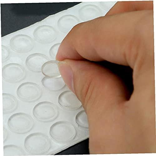 Ruluti 100 unids Pies de Goma Transparente Adhesivo Almohadillas de Parachoques autoagonado golpeadores de Sonido Detalle de Sonido Parachoques Gabinete Buffer Pads