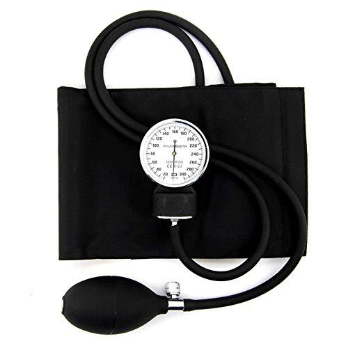 Kit Messgerät Blutdruck Profi mit Armband, Blutdruckmessgerät Aneroid Und Tasche mit Reißverschluss
