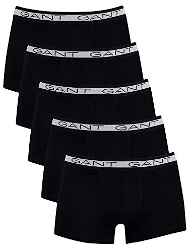 GANT Herren Basic Trunk 5-Pack Boxershorts, Black, XL