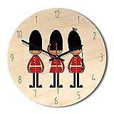 Amazon Explosions Creative Reloj de pared de madera nórdica, vintage, reloj de pared para sala de estar, hogar, relojes al por mayor (rojo B)
